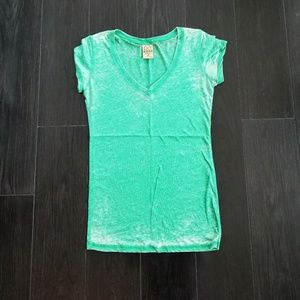 Distressed Green Lightweight Tee Size XS